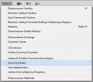 1-Deactivate Adobe